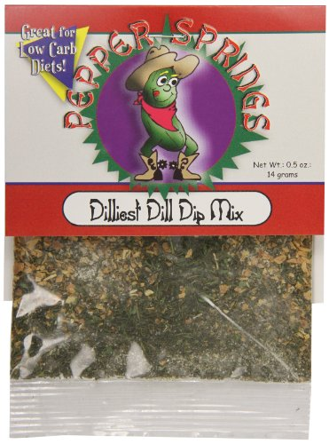 Pepper Dip Mix (Pepper Springs Dilliest Dill Dip Mix, 0.5 Ounce)