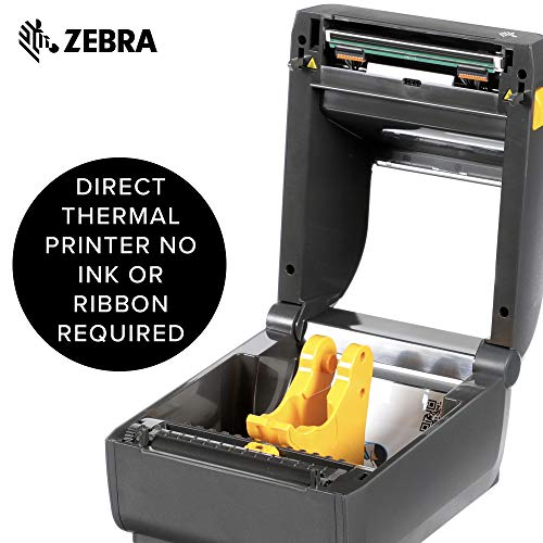 Zebra - ZD420d Direct Thermal Desktop Printer for Labels and Barcodes - Print Width 4 in - 203 dpi - Interface: USB - ZD42042-D01000EZ by Zebra Technologies (Image #3)