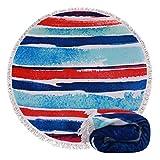 yoga towels tie dye - Genovega (22 Options) Thick Round Beach Towel Blanket – Tie Dye Large Microfiber Terry Beach Roundie Circle Picnic Carpet Yoga Mat With tassel For Women Two