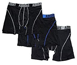 Adidas Men\'s Climalite Performance Boxer Briefs - Medium - Black (Pack of 3)