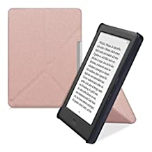 kwmobile Elegant flip synthetic leather case for Kobo Glo HD (N437) / Touch 2.0 in rose gold - practical magnetic clasp and stand function