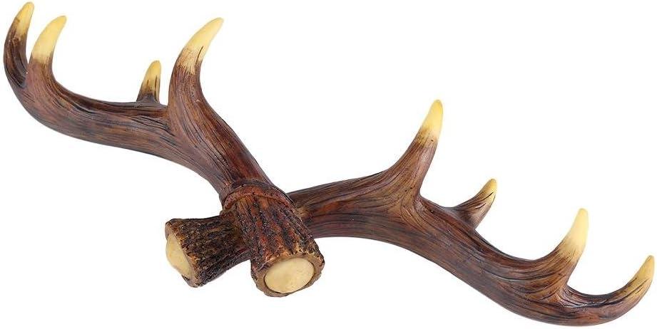 Fdit I Ganci a Parete a Forma di di cremagliera della Mini Annata del Cervo dei Cervi della Resina per Le Viti di Asciugamano dei Gioielli della Borsa dei Cappelli di Chiavi Hanno Incluso Brown