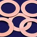20pcs tibetara 1 5/8''(39mm) Copper Round Circle Pendants Blank Stamping Tags Diy Stamping Jewelry,inner diameter 25mm