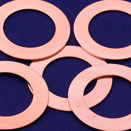 20pcs tibetara 1 5/8''(39mm) Copper Round Circle Pendants Blank Stamping Tags Diy Stamping Jewelry,inner diameter 25mm by Rosebeading (Image #1)