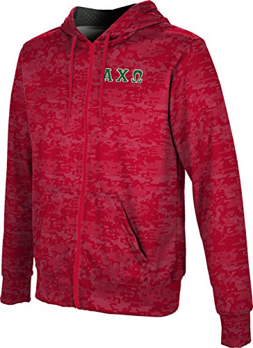- Alpha Chi Omega Men's Zipper Hoodie, School Spirit Sweatshirt (Digital) B73A4