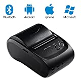 thermal printer portable - USB Thermal Receipt Printer LESHP Portable Mini Wireless Bluetooth Thermal Receipt Printer 58mm POS Printer Compatible with ESC / POS Print Commands Set Light Weight Printer with Rechargeable Battery