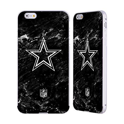 Official NFL Marble 2017/18 Dallas Cowboys Logo Silver Aluminum Bumper Slider Case for Apple iPhone 6 Plus / 6s Plus (Design Dallas)