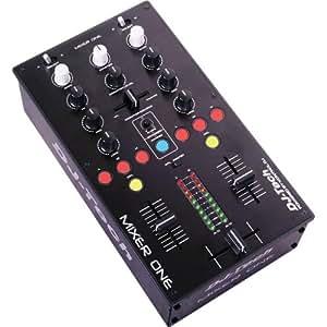 DJ TECH MIXER ONE - Mesa de mezclas (USB, 2 canales)