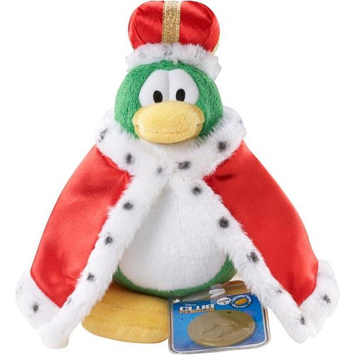 Disney Penguin Series Club - Disney Club Penguin 6.5 Inch Series 2 Plush Figure King (Includes Coin with Code!)