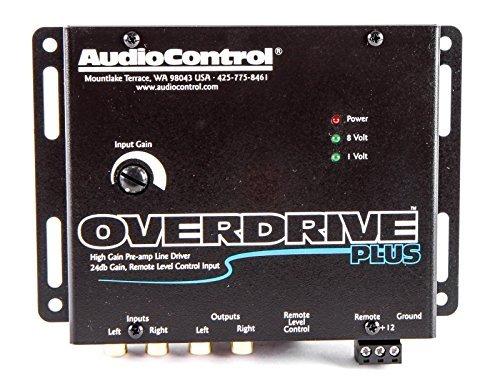 AudioControl Overdrive Plus Black Two Channel High-Gain Active Line Driver