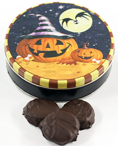 Scott's Cakes Dark Chocolate Covered Oreos in a Mini Happy Halloween Tin