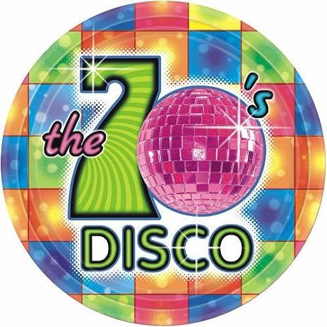 70u0027s Disco Extra Large Paper Plates ...  sc 1 st  Amazon.com & Amazon.com: 70u0027s Disco Extra Large Paper Plates (8ct): Toys u0026 Games