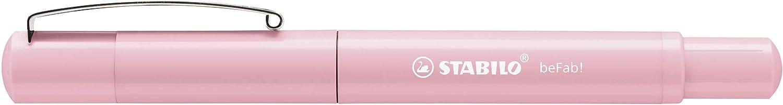 3 Cartucce Blu incluse Penna Stilografica Pastel in Lilla STABILO beFab