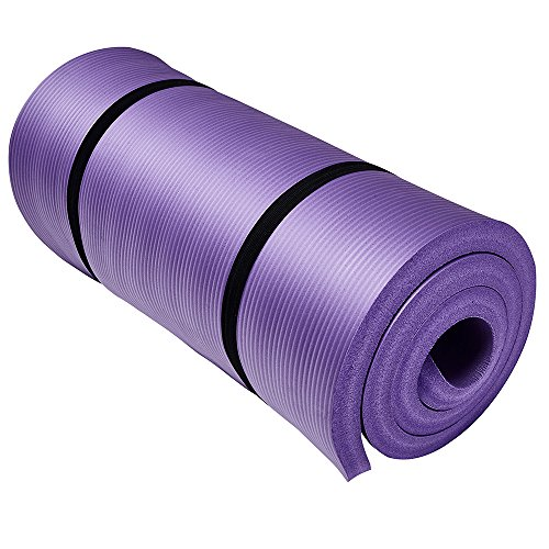 Easthills Fitness 71″ x 24″ Extra Thick 1 Inch Yoga and Exercise Mat with Elastic Strap for Gym, Workout, Physical Therapy, Pilates.