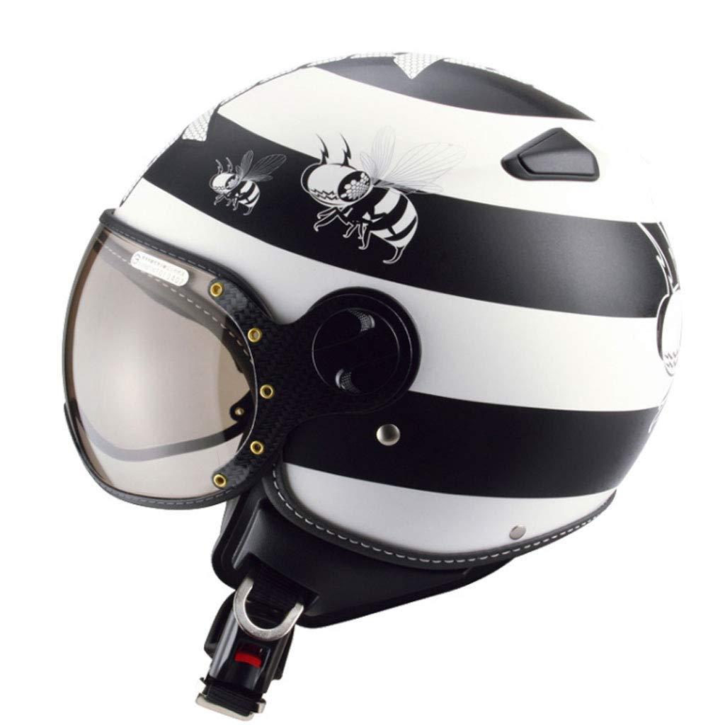 ZXW : ヘルメット- オートバイ電動ヘルメット男性と女性レトロシーズンズハードハット (色 : B07MHWDHQQ Black white, サイズ さいず XL) : XL) X-Large Black white B07MHWDHQQ, ハッピーボックス ラグジュアリー:6aa5a750 --- ero-shop-kupidon.ru