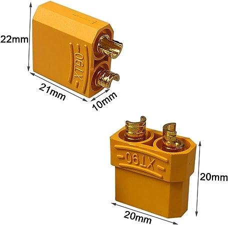 Qitindasen 8 Paare Premium Xt 90 Männlich Weiblich Batterie Anschlüsse Hochstrom Goldstecker Goldkontaktstecker Rundstecker Stecker Buchse Mit Schrumpfschlauch Baumarkt