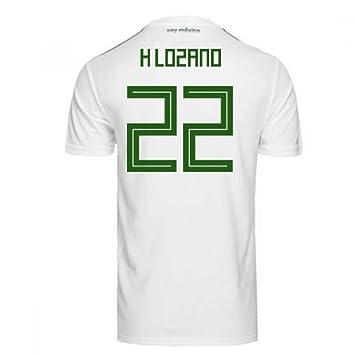 79d6bea84d7 Image Unavailable. 2018-2019 Mexico Away Adidas Football Shirt (H Lozano 22)