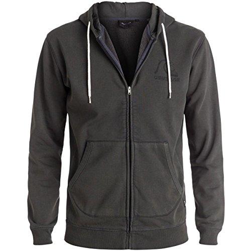 Quiksilver Pullover Sweatshirt - Quiksilver Mens Bubble Fleece Hoody Zip Sweatshirt Large Tarmac