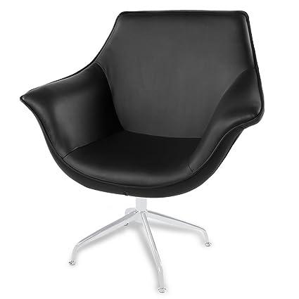 Zuri Furniture Mala Modern Swivel Occasional Chair   Black