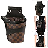 Anself PU Leather Hair Scissor Holster Hairdressing Bag Pouch Holder with Waist Shoulder Belt