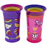 Baby : Sassy Sassy 360 Grow up Cup(tm) Spoutless Sippy Cup, Purple/Pink 12oz, 2ct, Purple/Pink, 12 Plus Months