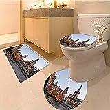 MikiDa 3 Piece Toilet mat set imperial college in london 3 Piece Shower Mat set