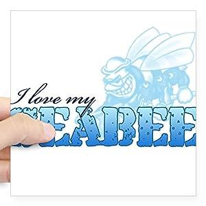 CafePress I Love My Seabee Square Sticker Bumper Sticker from CafePress