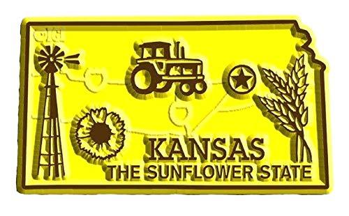 Buy kansas the sunflower state map fridge magnet