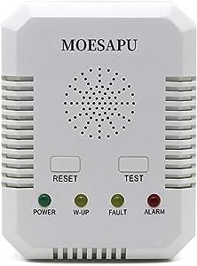 2 in 1 Carbon Monoxide/Combination Alarm Gas Leak Detector for Home Kitchen Methane,LPG, LNG,CO with Voice Alarm