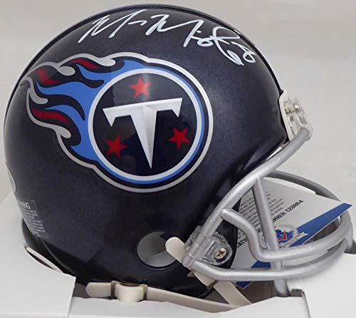 Marcus Mariota Autographed Tennessee Titans Mini Helmet Beckett (Signed Titans Mini Helmet)