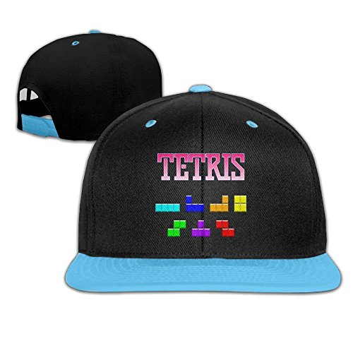 Hip Hop Tetris Game Boys/Girls Adjustable Flat Brim Baseball Cap by Ervyn