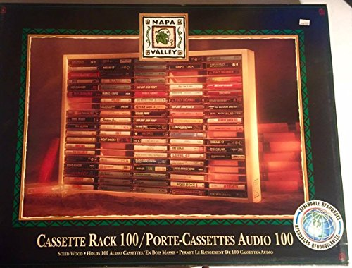 Shelf Rack Cassette - Vintage 1989 Napa Valley Box 100 Cassette Tape Rack : With Original Packaging : Natural Pine : Tower Records Sam Goody
