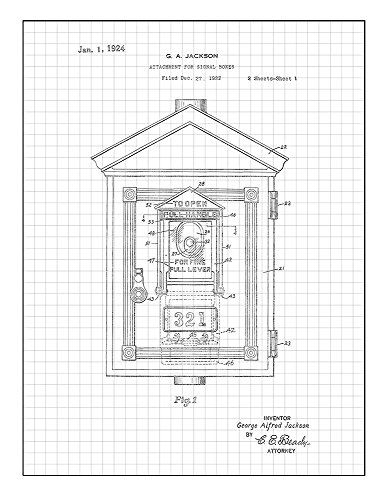 amazon attachment for signal boxes patent print art poster red 10X10 Grid Squares amazon attachment for signal boxes patent print art poster red grid 8 x 10 m10791 posters prints