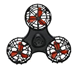 BEYZA Flying Fidget Spinner,Anti-anxiety Relieving Boredom Interactive Mini Drone Outdoor Spinning Toys For Kids Adult,Vivid Red (White)