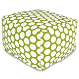 Majestic Home Goods Hot Green Large Polka Dot Ottoman, Large Review