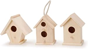 """Darice Natural Wood Birdhouse, 4.5"""" Height (Single pack) (Styles may vary)"""
