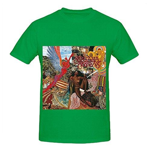 santana-abraxas-roll-mens-crew-neck-custom-shirt-green