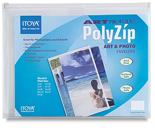 Itoya Art Portfolio PolyZip Art & Photo Envelope (5 In. x 7 In.) 3 pcs sku# 1844990MA