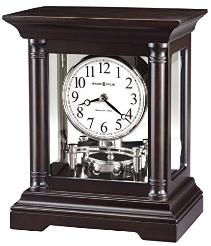 Howard Miller 635198 Cassidy Mantle Clock, Black Coffee