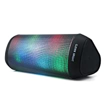 Bluetooth Speakers Portable LED Light Wireless Speaker Visual Display Mode Powerful Sound Built-in Mic,AUX,Hands Free Home Outdoor Wireless Bluetooth Audio Speaker