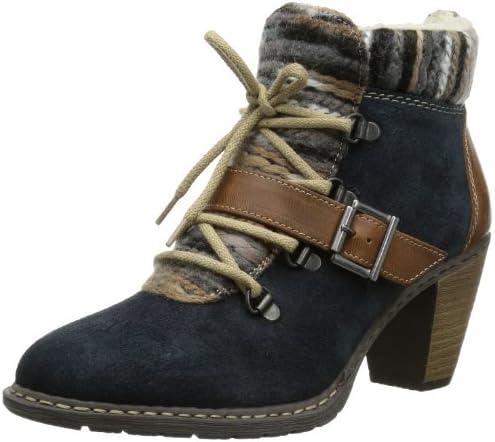 Rieker Damen Z1521 14 Kurzschaft Stiefel, Blau (PilotMogano ZCMdx