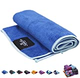 Sumi Eco 100% Microfiber Yoga Towel | Extra Thick Yoga Mats Towel | Sweat Absorbent, 24 x 72 Multicolored Moisture-Wicking Hot Yoga Rug for Pilates and Workout