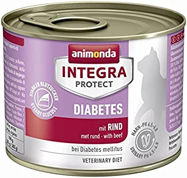 animonda Integra Protect - Diabetes con vacuno, 6 x 200 g