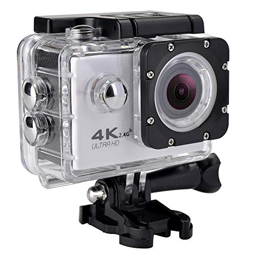Andoer Sport Action Camera 4K WiFi Full HD1080P 30M Waterproof 120 Degree Wide-Angle Sports DV Mini 2in LCD Screen for Outdoor Extreme Sports
