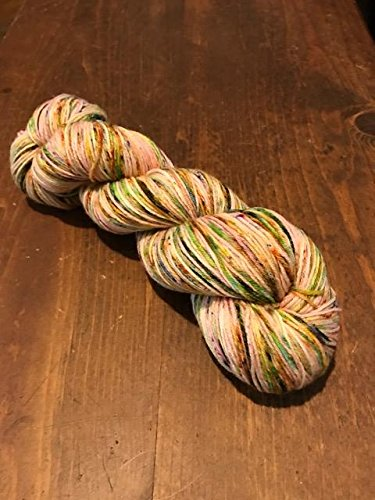 tickled-pink-pink-yellow-blue-green-orange-purple-superwash-merino-wool-sock-yarn-fingering-weight-h