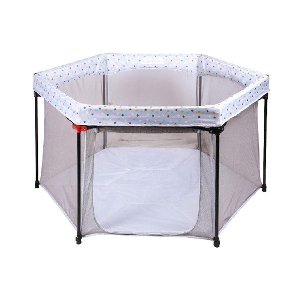ベビーゲート 赤ちゃんフェンス幼児クロールマットカーペットプレイハウスベビーサークルマットレス安全遊び場ゲート子供の遊び場遊び場知育玩具 (含まれていないボールとマット)   B07R7HH12S