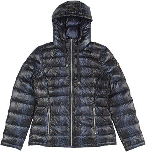 UPC 889609987321, Calvin Klein Women's Reversible Printed Puffer Coat Small Midnight Boa
