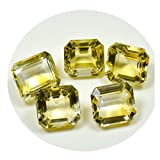 Real Citrine Faceted 20 Carat Square Loose Gemstone Lots 5 Pieces Chakra Healing Wholesale Rate Astrology