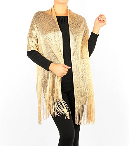 Women's Two Tone Modern Metallic Fishnet - Modern Scarf Shopping Results