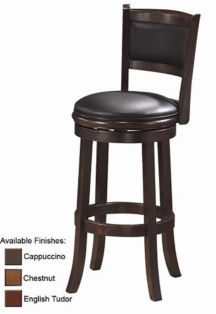 Cappuccino Barstool w/ Backrest - Seat Height 30''